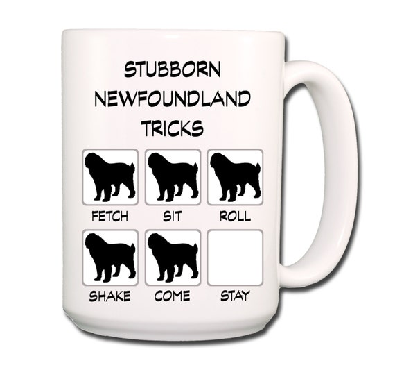 Newfoundland Stubborn Tricks Large 15 oz Coffee Mug