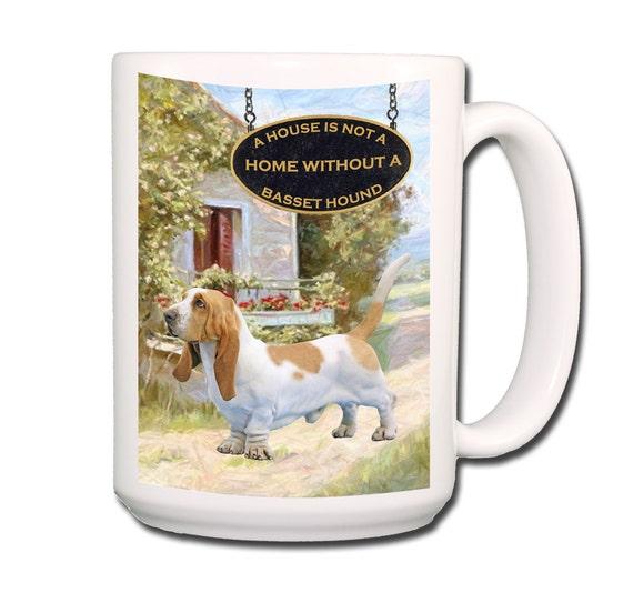Basset Hound a House is Not a Home Large 15 oz Ceramic Coffee Mug No 1