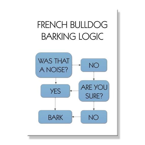 French Bulldog Barking Logic Fridge Magnet