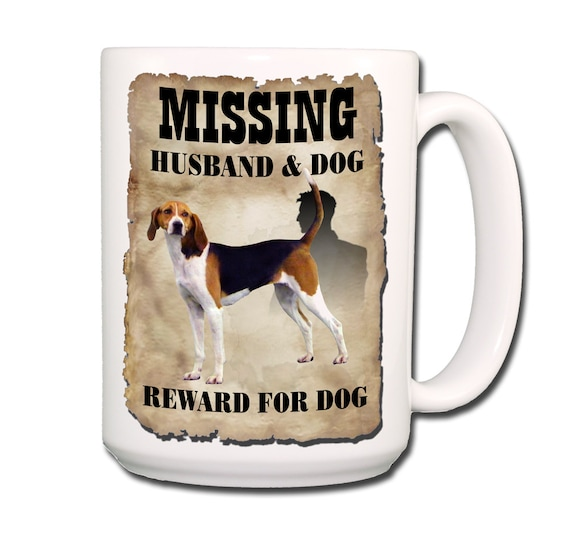 Treeing Walker Coonhound Husband Missing Reward Large 15 oz Coffee Mug
