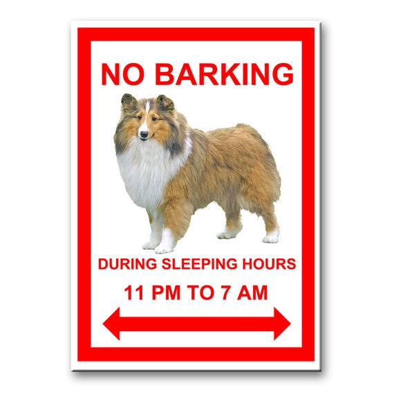 Shetland Sheepdog No Barking Fridge Magnet No 1