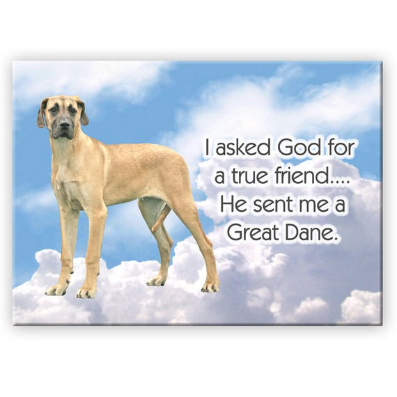 Great Dane True Friend Fridge Magnet No 5