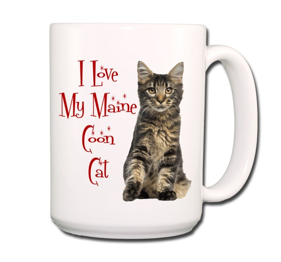 Maine Coon Cat I Love My Cat Large 15 oz Coffee Mug No 3