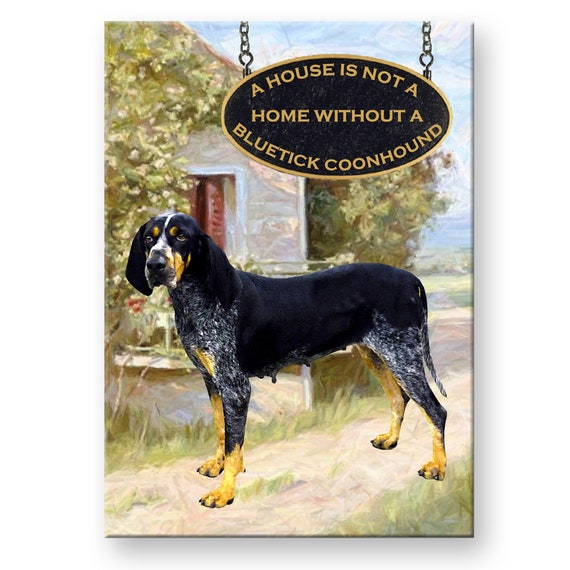 Bluetick Coonhound a House is Not a Home Fridge Magnet No 2