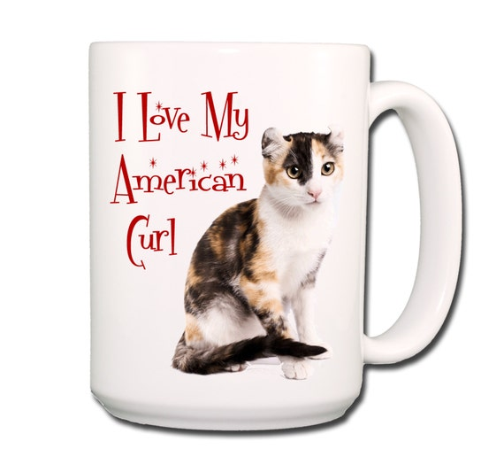 American Curl Cat I Love My Cat Large 15 oz Coffee Mug No 1