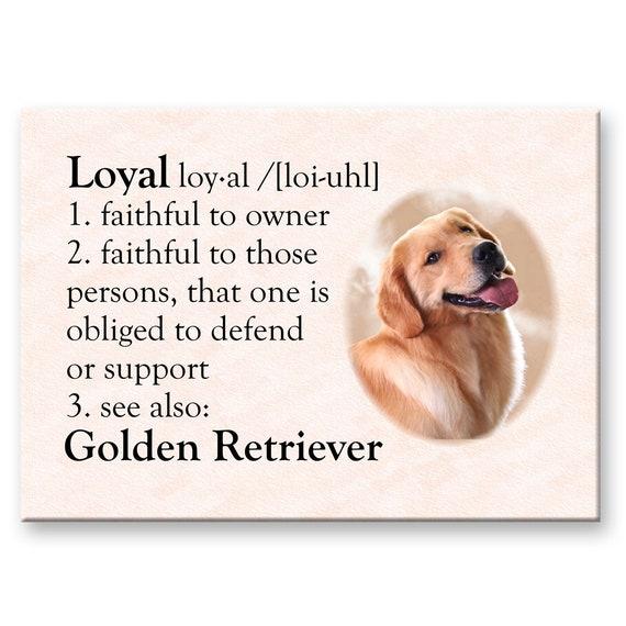 Golden Retriever Dictionary Loyal Fridge Magnet