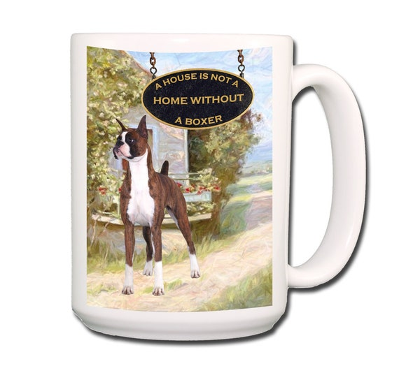 Boxer a House is Not a Home Extra Large 15 oz Coffee Mug