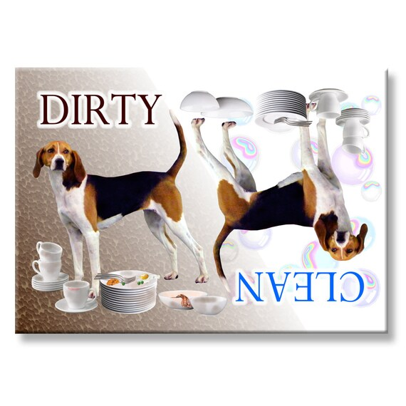 Treeing Walker Coonhound Clean Dirty Dishwasher Magnet
