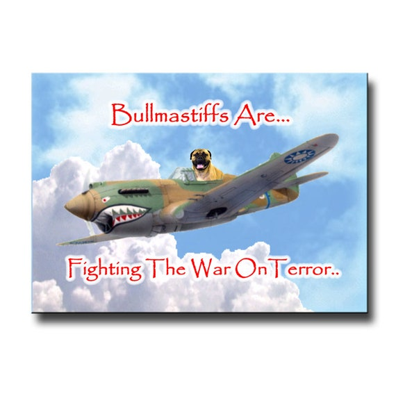 Bullmastiff War on Terror Fridge Magnet No 1