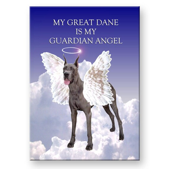 Great Dane Guardian Angel Fridge Magnet No 1