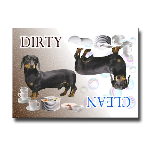 Dachshund Clean Dirty Dishwasher Magnet No 2