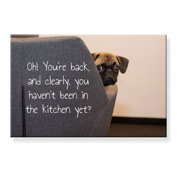 Pug Naughty Dog Fridge Magnet