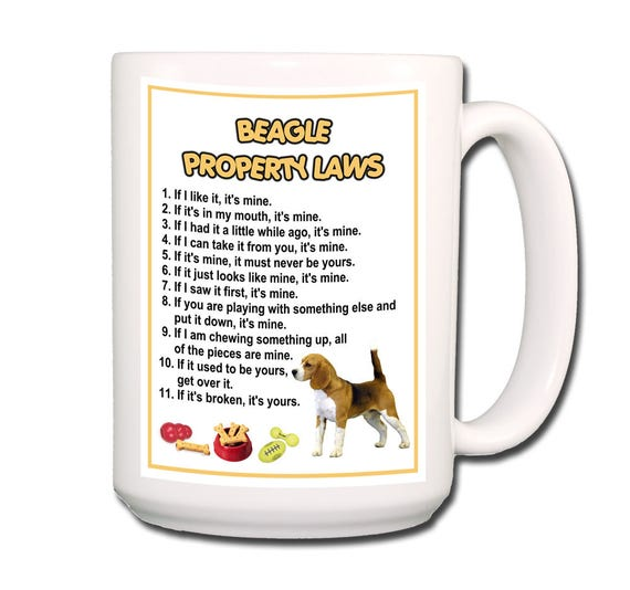 Beagle Property Laws Extra Large 15 oz Coffee Mug