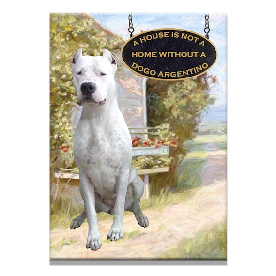 Dogo Argentino a House is Not a Home Fridge Magnet