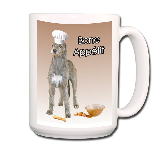 Irish Wolfhound Bone Appetit Chef Extra Large 15 oz Coffee Mug