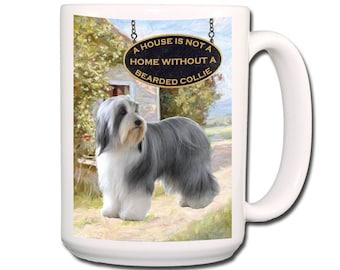 Bearded Collie a House is Not a Home Extra Large 15 oz Coffee Mug