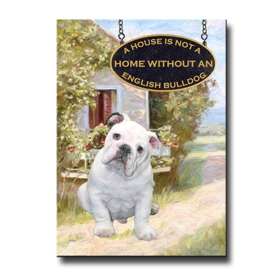 English Bulldog a House is Not a Home Fridge Magnet No 3