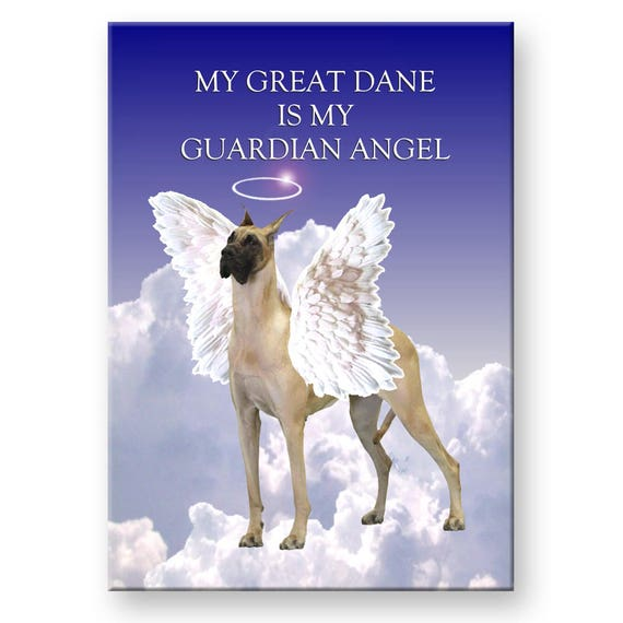 Great Dane Guardian Angel Fridge Magnet No 3