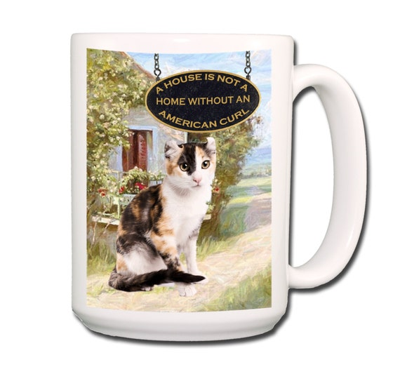 American Curl Cat a House is Not a Home Large 15 oz Coffee Mug No 1