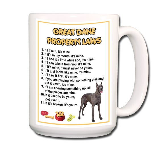 Great Dane Property Laws 15 oz Extra Large Coffee Mug No 1
