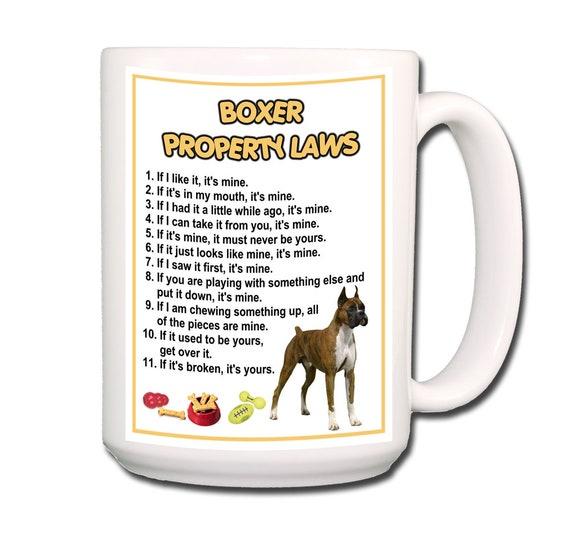 Boxer Property Laws Extra Large 15 oz Coffee Mug