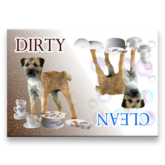 Border Terrier Clean Dirty Dishwasher Magnet
