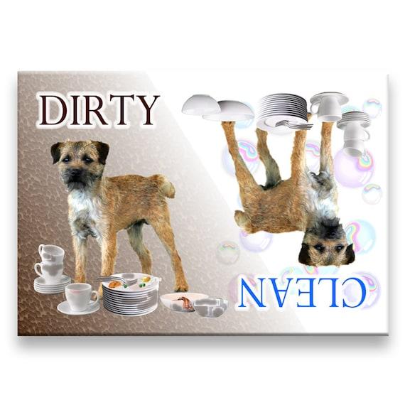 Border Terrier Clean Dirty Dishwasher Magnet