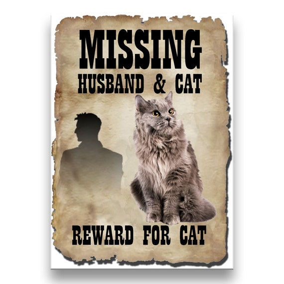 Maine Coon Cat Husband Missing Reward Fridge Magnet No 5