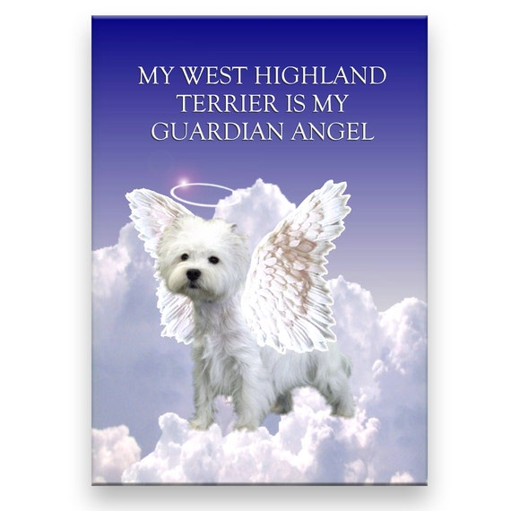 West Highland White Terrier Guardian Angel Fridge Magnet