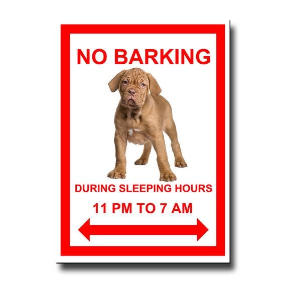Dogue de Bordeaux No Barking Fridge Magnet