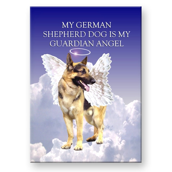 German Shepherd Dog Guardian Angel Fridge Magnet