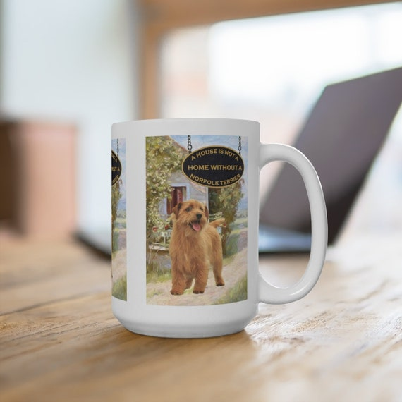 Norfolk Terrier a House is Not a Home Extra Large 15oz Coffee Mug