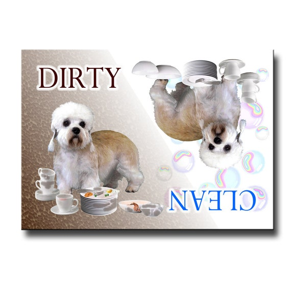 Dandie Dinmont Terrier Clean Dirty Dishwasher Magnet