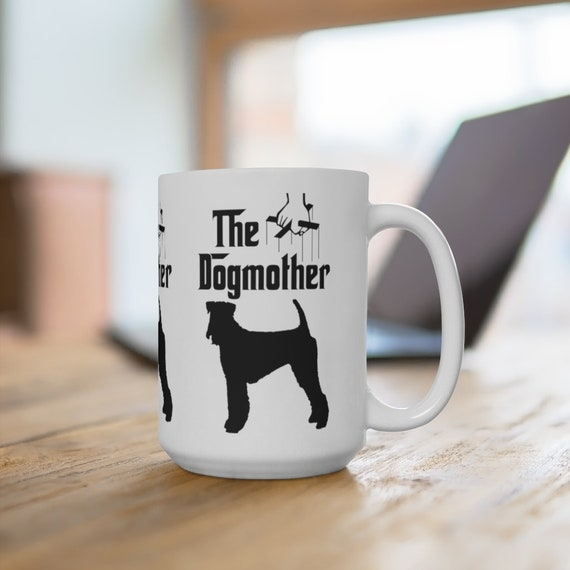 Airedale Terrier The Dogmother Extra Large 15oz Coffee Mug Dog Mother