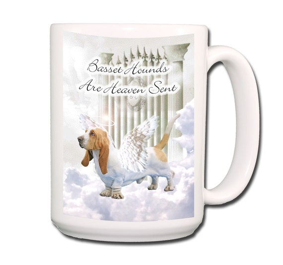 Basset Hound Heaven Sent Large 15 oz Coffee Mug