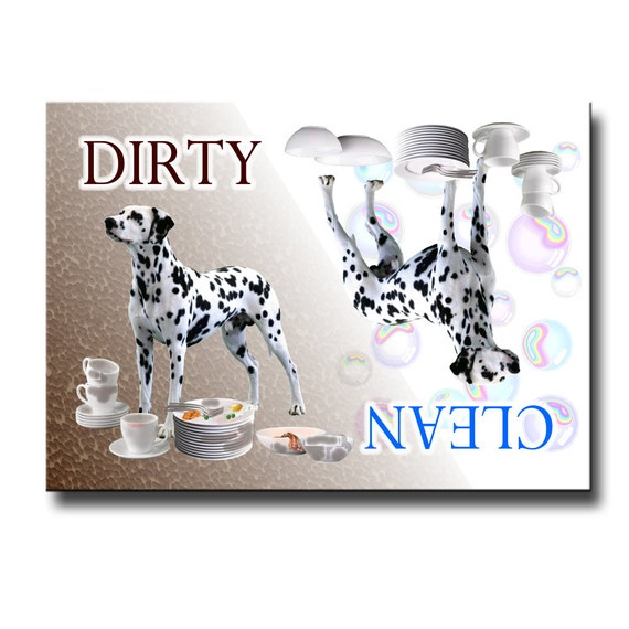Dalmatian Clean Dirty Dishwasher Magnet