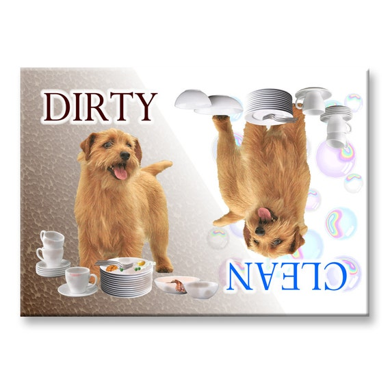 Norfolk Terrier Clean Dirty Dishwasher Magnet