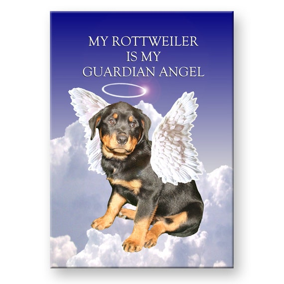 Rottweiler Guardian Angel Fridge Magnet