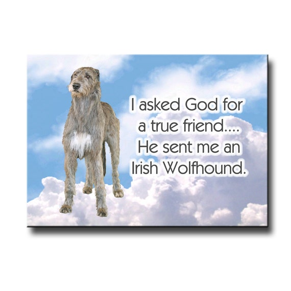 Irish Wolfhound True Friend Fridge Magnet