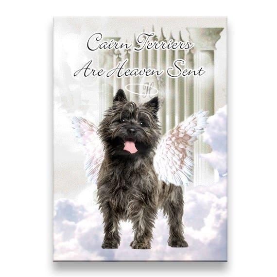 Cairn Terrier Heaven Sent Fridge Magnet No 1 Pet Loss