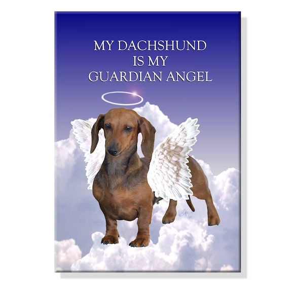Dachshund Guardian Angel Fridge Magnet No 1