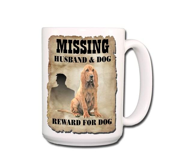 Bloodhound Husband Missing Reward Extra Large 15 oz Coffee Mug