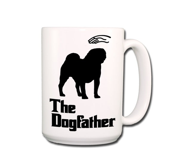 Pug Dogfather Large 15 oz Coffee Mug