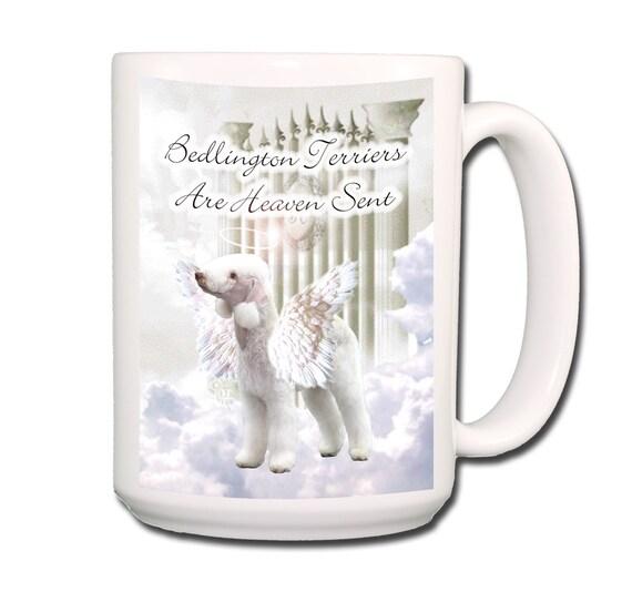 Bedlington Terrier Heaven Sent Large 15 oz Coffee Mug