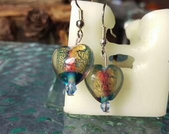 Blue Murano Hearts