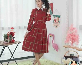 Vintage Midi Dress VD986