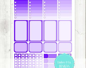 Purple Functional Planner Printable Sticker Mini Kit || 2017 Big Happy Planner