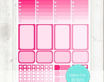 Pink Functional Planner Stickers Printable Mini Kit || 2017 Big Happy Planner
