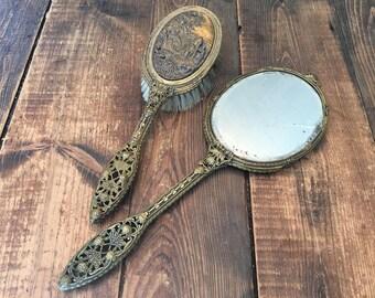 Hand Mirror Brush Etsy