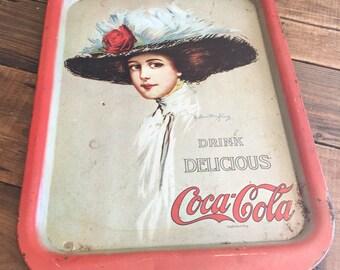 Vintage Coca-Cola Tin Tray/Collectible Coca Cola
